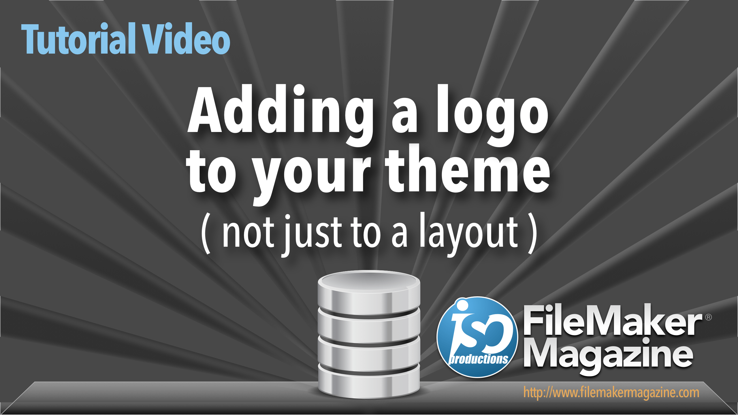 Adding a logo to your theme - ISO FileMaker Magazine